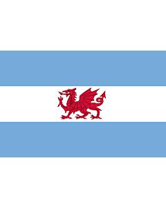 Drapeau: Welsh colony in Patagonia | Puerto Madryn and the Welsh colony in Patagonia | Puerto Madryn y de la Colonia Galesa de la Patagonia | Porth Madryn  Y Wladfa