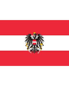 Drapeau: Austria  state, variant   State flag of Austria; Version with a more artistic version of the coat of arms   Dienstflagge der Republik Österreich; Variante mit künstlerisch ausgestaltetem Adler   I ratna zastava Austrije   Ausztria állami zászló  