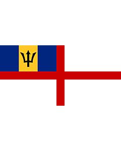 Drapeau: Naval Ensign of Barbados