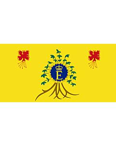 Drapeau: Royal Standard of Barbados   Queen Elizabeth II s personal flag for use in Barbados
