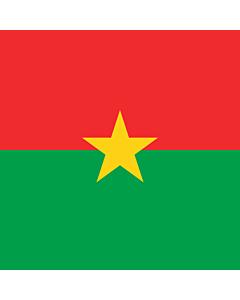 Drapeau: Presidential Standard of Burkina Faso