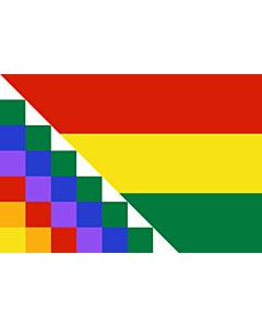 Drapeau: Proposed flag of Bolivia | Possible proposal of Evo Morales for a new flag of Bolivia | Diseño de posible bandera propuesta por Evo Morales para Bolivia