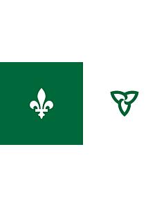 Drapeau: Franco-Ontarian   W Franco-Ontarian Flag Ontario, Canada