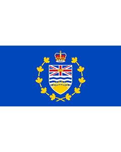 Drapeau: Lieutenant-gouverneur de Colombie-Britannique