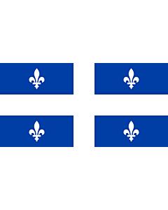 Drapeau: Québec  proportion 1 2