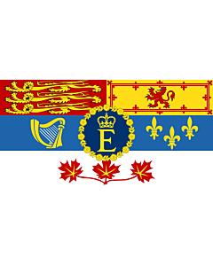 Drapeau: Reine Élisabeth II pour son usage personnel au Canada  1962–actuel
