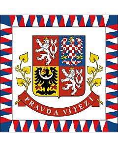 Drapeau: Presidential Standard of the Czech Republic | President of the Czech Republic | Presidente della Repubblica Ceca | Prezidenta České republiky