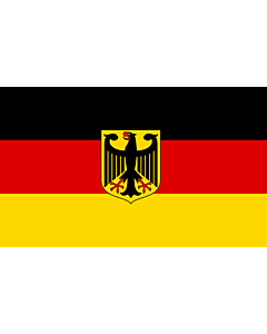 Drapeau: Germany  unoff | State flag with coat of arms instead of  federal shield   unofficial variant