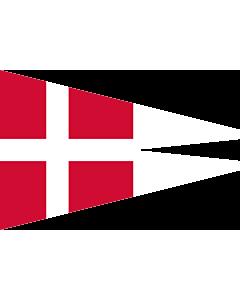 Drapeau: Naval Rank Flag of Denmark - Chief of Squadron | Danish naval rank flag for the Chief of Squadron | Eskadrechefsstander