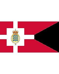 Drapeau: Standard of the Crown Prince of Denmark | Det danske tronfølgerflag  bruges af H