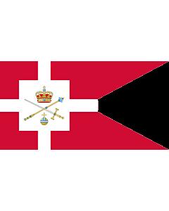 Drapeau: Standard of the Regent of Denmark | Rigsforstanderflaget