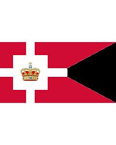 Drapeau: Standard of the Royal House of Denmark | Kongehusflaget  bruges af alle medlemmer af den kongelige familie