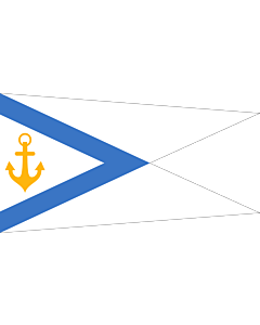 Drapeau: Estonia - Chief of Naval Forces   Pennant of the Estonian Chief of Naval Forces   Mereväe ülema vimpel