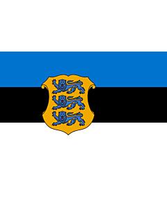 Drapeau: Estonia - Minister of Defence   Estonian Minister of Defence   Kaitseministri lipp