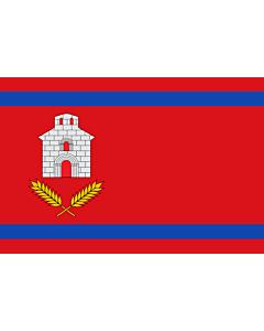 Drapeau: Chalamera | Chalamera-Huesca-Spain | Chalamera-Huesca Paño rojo de proporción 2/3, con dos franjas horizontales