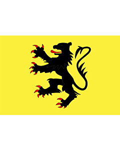 Drapeau: Représentant le  Lion des Flandres