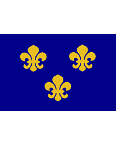Drapeau: Medieval France   Present day s Île-de-France In 1328, the coat-of-arms of the House of Valois was blue with gold fleurs-de-lis bordered in red