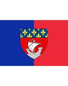 Drapeau: Paris with shield   Vectorized image of the FOTW site flag of Paris