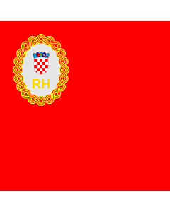 Drapeau: Predsjednika Hrvatskog sabora   Speaker of the Croatian Parliament   Präsidenten des kroatischen Parlaments   Per il Presidente del Parlamento croato