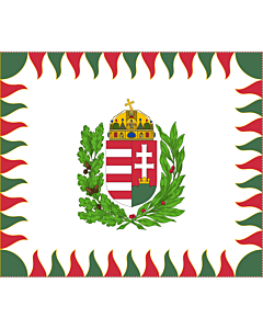 Drapeau: War Flag of Hungary | Colour for brigades | Oficiala milita armea flago de Hungario | 1990 M