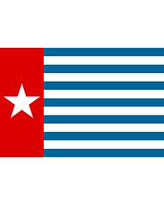Drapeau: Morning Star   Unofficial Morning Star flag   Morgenster, Vlag van Westelijk Nieuw-Guinea   Indonesia, Bendera Papua Barat   Флаг утренней звезды