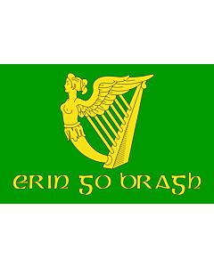 Drapeau: Erin Go Bragh | Irish nationalist flag   version of Image Erin Go Bragh flag