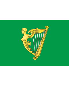 Drapeau: Green harp flag of Ireland | A traditional green harp flag of Ireland with a slightly different harp from File Arms of Ireland  Historical
