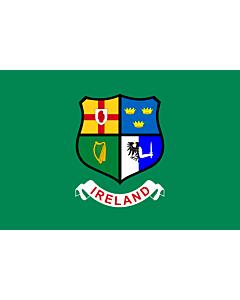 Drapeau: Ireland hockey team | Field hockey team of Ireland  Four Provinces coat of arms -- Ulster