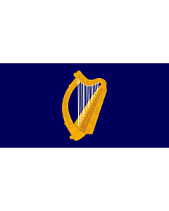 Drapeau: President of Ireland | Presidential Flag of Ireland with alternate official state harp design