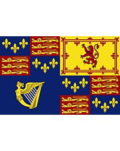 Drapeau: Royal Standard of Great Britain  1603-1649 | Royal Standard of Great Britain  1603-1649, 1660-1689, 1702-1707