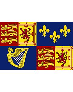 Drapeau: Royal Standard of Great Britain  1707-1714 | Royal Standard of Great Britain between 1707 to 1714