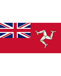 Drapeau: Civil Ensign of the Isle of Man | Civil ensign of the Isle of Man | Civil de la Isla de Man | Corrillagh brattagh Ellan Vannin