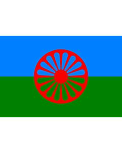 Drapeau: Romani people | Romani people, made using these dimensions
