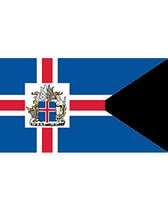 Drapeau: Presidential Standard of Iceland | Icelandic Presidential