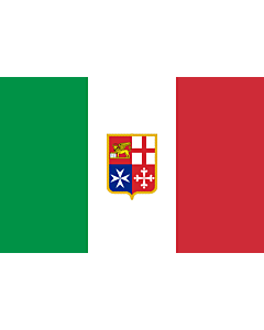 Drapeau: Civil Ensign of Italy | Italy used by Italy current since 9 November 1947 created by format 2 3 shape rectangular colours see included flag other characteristics naval ensign Civil naval flag of Italy  the military naval flag differs from this on