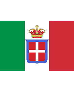 Drapeau: Italy  1861-1946  crowned | It is easy to put a border around this flag image