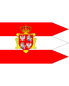 Drapeau: Rzeczypospolitej Obojga Narodow ogolna | Royal banner  not a flag  of the Polish-Lithuanian Commonwealth  during the reign of the House of Vasa   1587-1668  but without any symbols of the House of Vasa and Polish-Swedish personal union | Chorągie