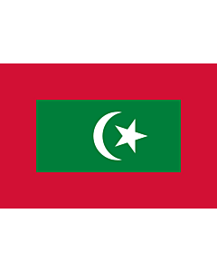 Drapeau: President of Maldives | Presidential standard of the Maldives