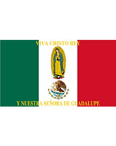 Drapeau: Mexico Flag Cristeros   Such as this one were used by the Cristeros when resisting the secular government forces in the  Cristero War   Utilizado por los Cristeros en la Guerra Cristera   Īpān Cristopīxqueh