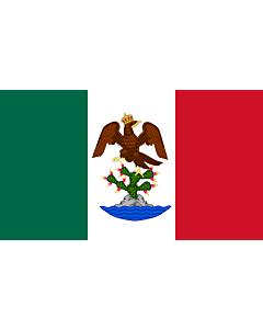 Drapeau: Primer Imperio Mexicano   First Mexican Empire