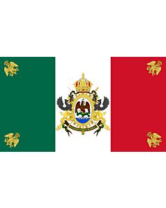Drapeau: Segundo Imperio Mexicano  1864-1867   Second Mexican Empire   Segundo Imperio Mexicano