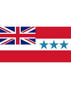 Drapeau: Rarotonga 1888-1893 | Rarotonga  now Cook Islands  from 1858 to 1893 | Het Koninkrijk Rarotonga tussen 1858 en 1893
