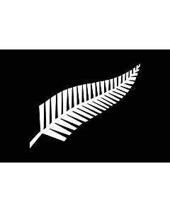 Drapeau: Silver fern | A Silver Fern flag, a proposed new New Zealand | Silberfarn-Flagge