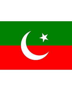 Drapeau: Pakistan Tehreek-e-Insaf | Pakistan Tehreek-e-Insaf. Created using Inkscape
