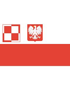 Drapeau: PL air force flag PRL | Polish Air Force flag  1959-1993 | Lotnictwa wojskowego  1959-1993