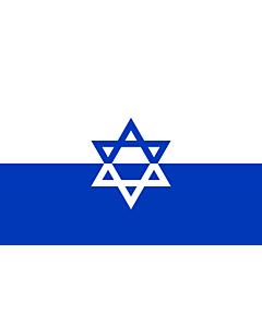 Drapeau: ZOB  Jewish Fighting Organization | Żydowska Organizacja Bojowa | דגל ארגון אי ל - הארגון היהודי הלוחם  שחזור על סמך העדויות