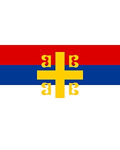 Drapeau: Serbian Cross alt2 | Serbian nationality with the Byzantine cross