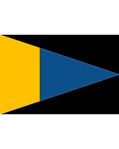 Drapeau: Naval Rank Flag of Sweden - Örlogsgaljadet | Command pennant | Örlogsgaljadet