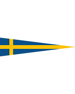 Drapeau: Naval Rank Flag of Sweden - Divisionschef | Swedish naval rank flag for a Division Commander | Tecken för förbandschef Divisionschef