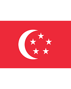 Drapeau: President of Singapore | The standard used by the President of Singapore | Presiden Singapura | 新加坡总统旗